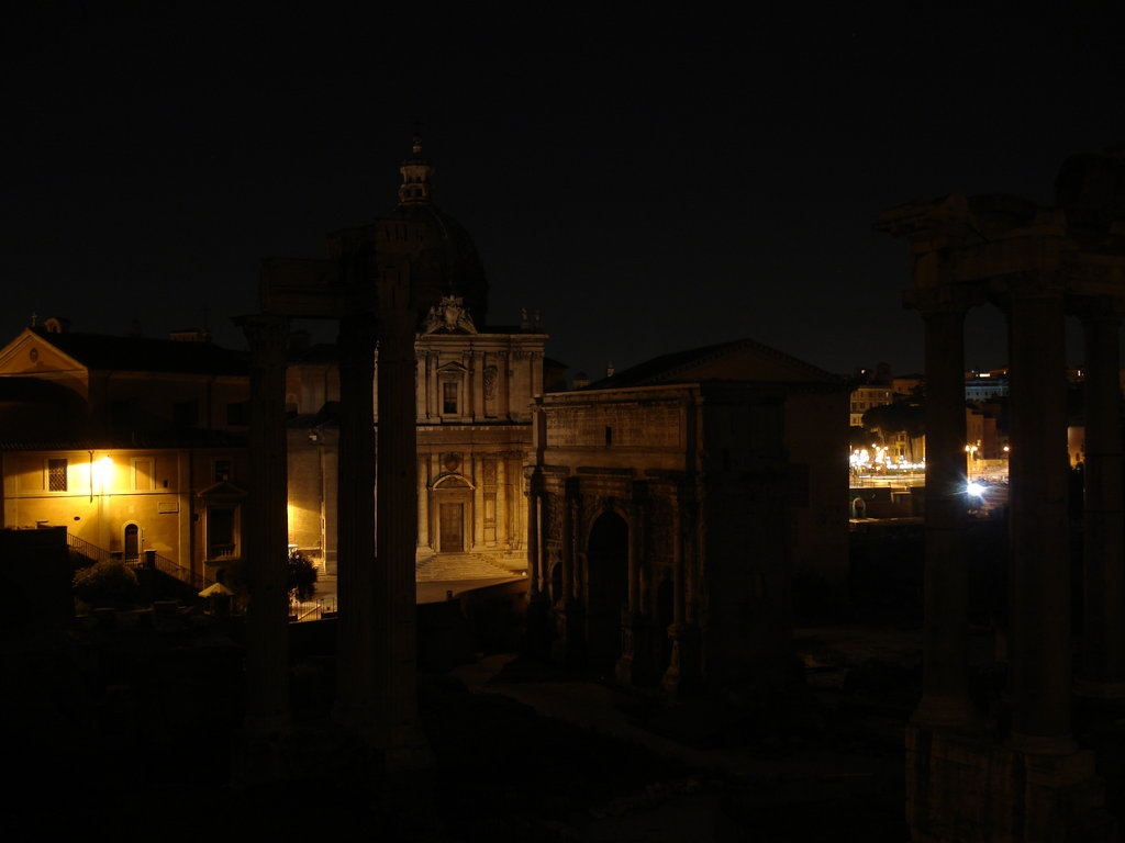 Ancient Rome at night.